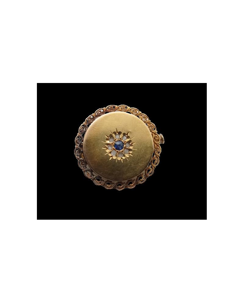 Bague solitaire ancienne diamants en or 750/000 18k