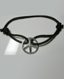 Bracelet  Peace and love argent luxe Paris