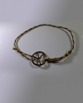 Bracelet peace and love argent massif 925 cordon tendance unique