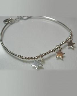 Bracelet jonc chaîne boule argent 925 Paris