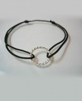 Bracelet cordon cercle torsade