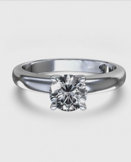 Bague solitaire 0.30 carats Diamant Or blanc 750/000