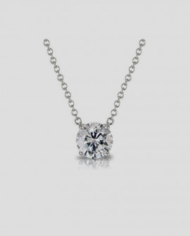 Collier solitaire diamant 0.30 carats SARALINKA OR 585/000