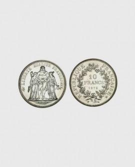 Pièce 10 francs hercule ( 1964 - 1973 ) en argent