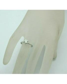 bague solitaire 0,70 carats diamant en or blanc 750/°°° ème