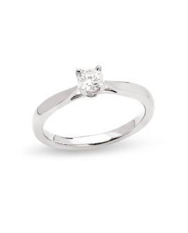 Bague solitaire classique diamant 0.20 CTS Or 750/000