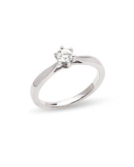 bague solitaire 0,30 carats diamant en or blanc 750/°°° ème