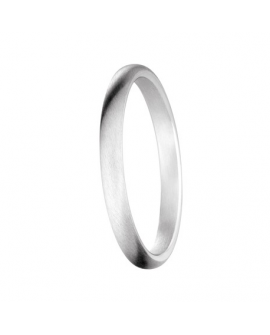 Alliance bague jonc prestige or blanc 750/°°°