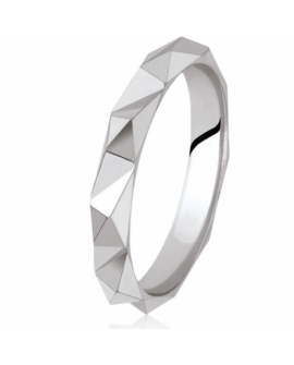Alliance Homme en or blanc 750/°°° 18K Origami