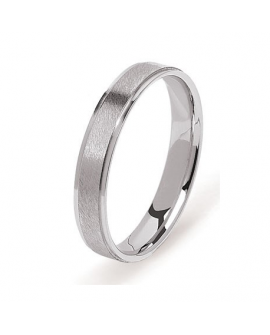 Alliance bague homme en or blanc 750/°°° 18K