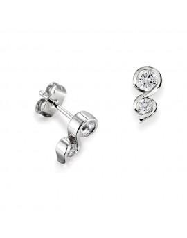 boucles oreilles diamants gouttes