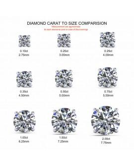 collier pendentif diamant solitaire de 0,10 carat or rose