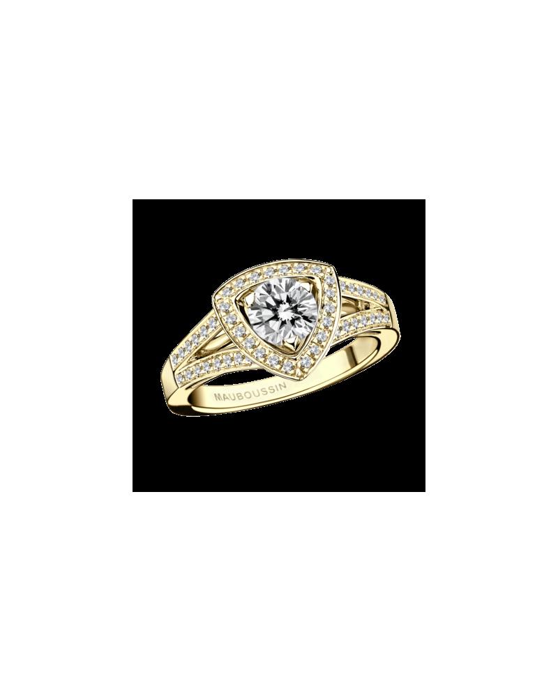 vente bague mauboussin diamant or