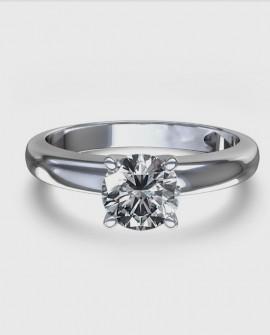 Bague solitaire 0.90 carats Diamant Or blanc 750/000
