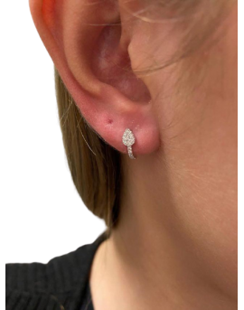 boucles oreilles flêche diamants