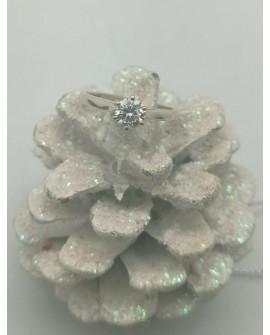 BAGUE SOLITAIRE CLASSIQUE 0,49 Carat DIAMANT H-IF OR blanc 750/000